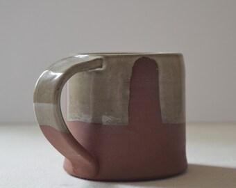 Red and Olive Green Ceramic Mug