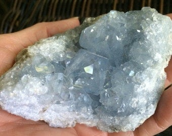 Special, Celestite Geode Cluster, Sky Blue