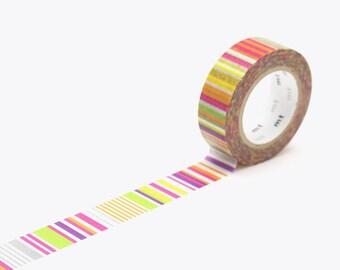 mt washi tape multi border vivid | mt deco 15mm×10m