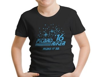 Star Trek Inspired Picard Riker 2016 Boys' T-Shirt