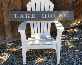 Vintage style wood Lake House sign