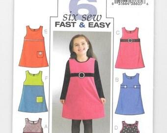 Girls' Jumper, Very Easy Pattern, Butterick No. B4273, Size 6,7,8, CL (6-8), Easy Girls Jumpers Patterns, Very Easy Pattern, New, Uncut