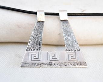 Ancient greek pendant, Greek jewelry, Ancient Greek jewelry, Meander pendant, Sterling silver necklace, Silver pendant, Handmade, Unique