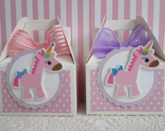 ONLY 3 SET LEFT! Unicorn Favor Boxes, Favor Boxes, Girl Favor Boxes, Unicorn Party Favors, Birthday Favor Boxes, Baby Birthday Favor Boxes
