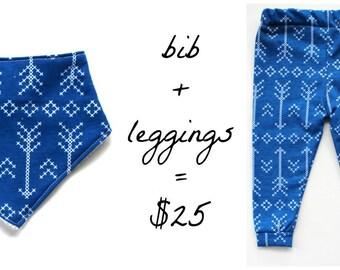 Leggings and bib gift set