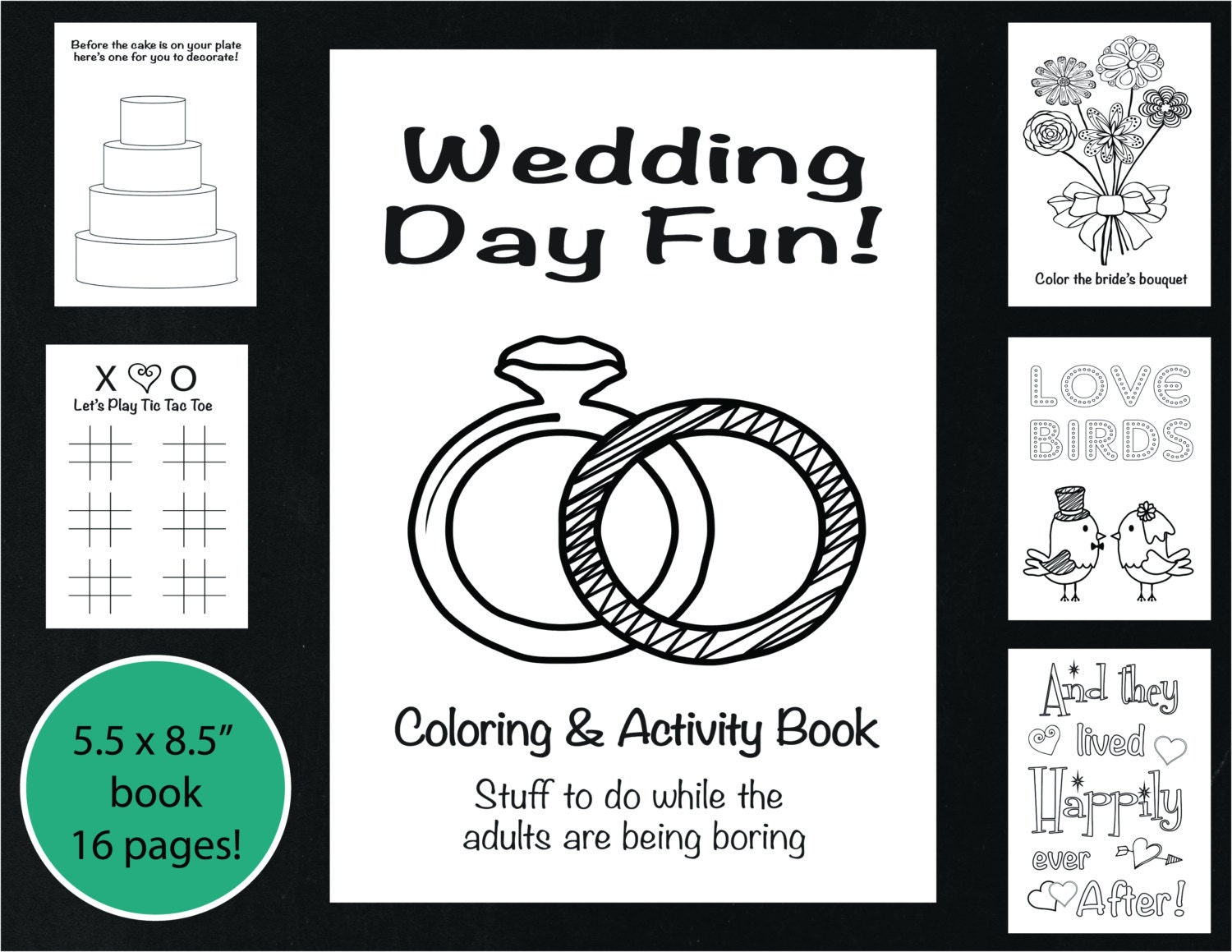 Wedding Coloring And Activity Book Reception Game Kid S