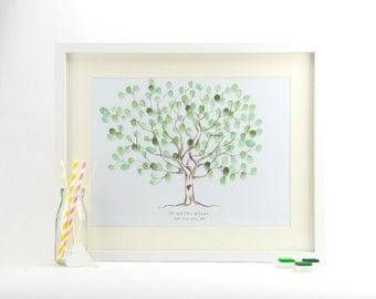 Rustic Tree Fingerprint Guestbook