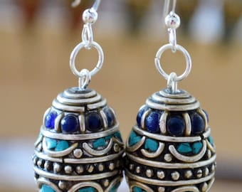 Earrings Nepalese Handcrafted Beads