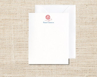 Yarn Personalized Stationery - Set of 20 - Flat Note Cards
