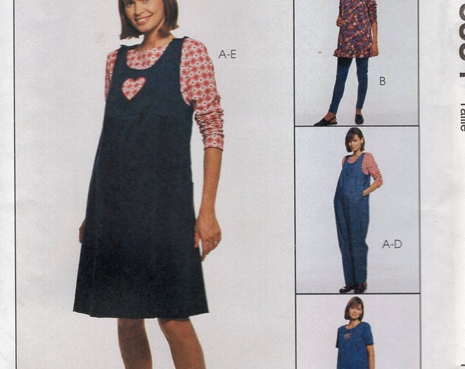 Free Us Ship Sewing Pattern McCall's 8534 Maternity Dress Jumpsuit Leggings Tops Uncut New Size 12 14 16 18 20 Bust 34 36 38 40 42 plus size