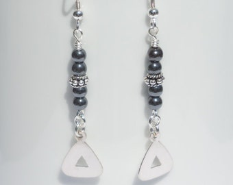 Hematite and sterling silver earrings