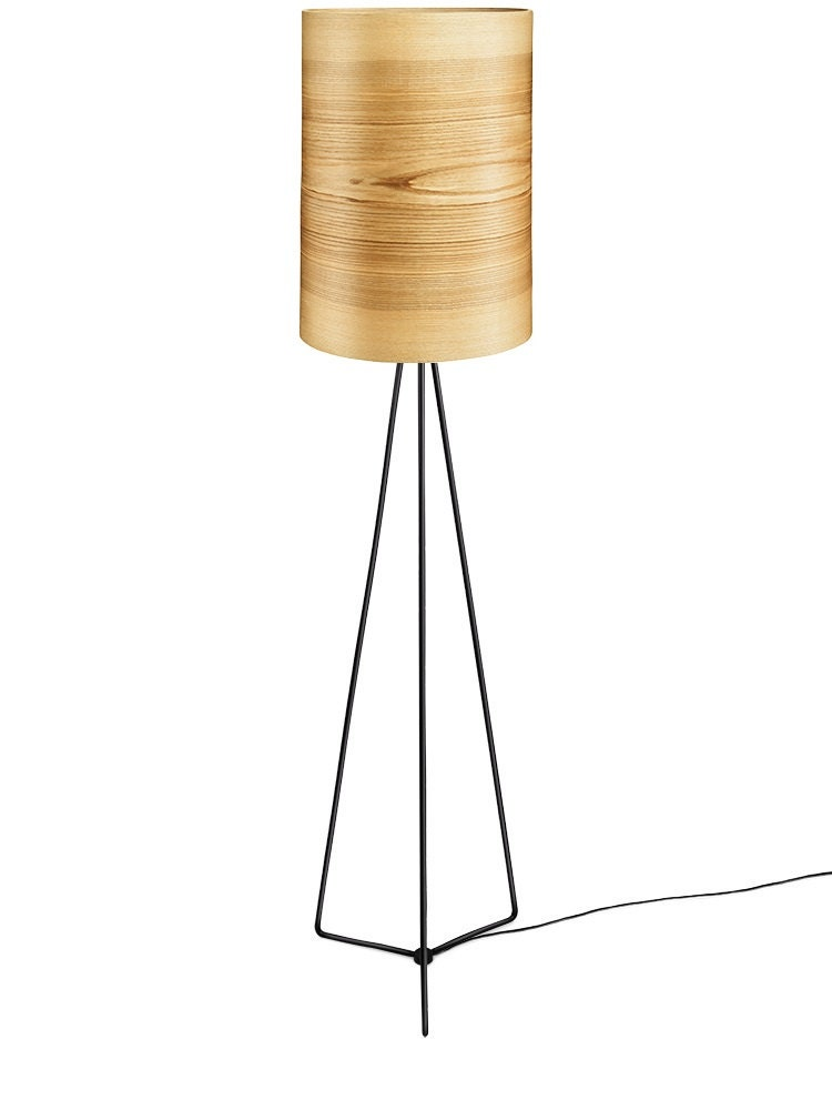 Floor lamp jens natural ash shade wood floor lamp unique Wood floor lamp