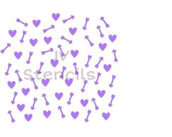 Arrows and Hearts Stencil
