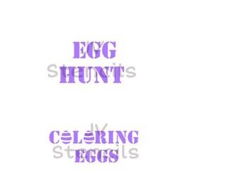 Egg Hunt, Coloring Eggs Stencil