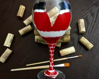 Santa Down- Holiday Glass