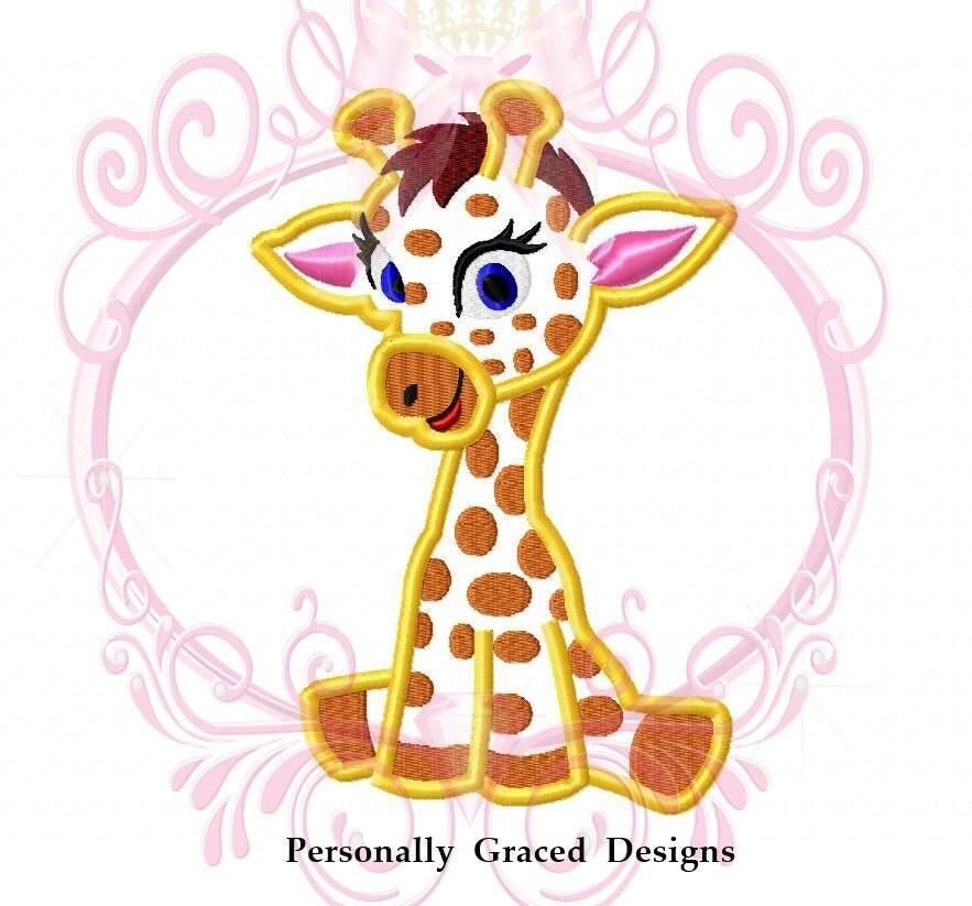 Instant nea descargar jirafa cute animal apliques bordado for Descargar embroidery office design 7 5 full