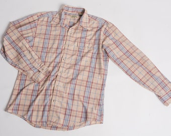 Mens Breezy Plaid Button Down