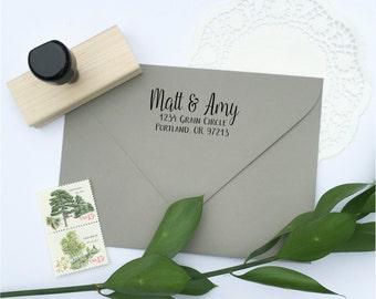 Address Stamp - custom address stamp - return address stamp - calligraphy address stamp - custom stamp - rubber stamp - Z1137