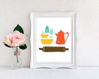 "Kitchen Art, Humble Crumb Kitchen Print ~ 8""x10"" ~ Digital Kitchen Print"