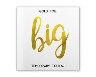 Single 'big' Tattoo   Big Little Sorority. Big Little Tattoos Sorority. Big Little Shirts. Big Little Gift. Sorority tattoos. Sorority.