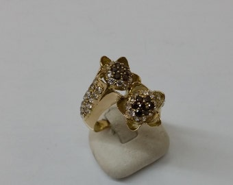 Ring gold 750 gold Smiths tourmaline Crystal GR150