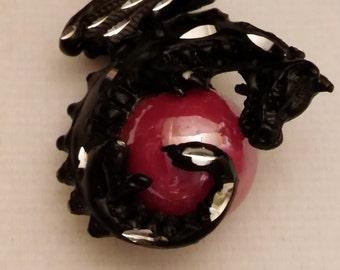 Black Dragon Orb Necklace