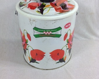 Superlux Food Bucket Olympic Games Brand Vintage Food Bucket Rare
