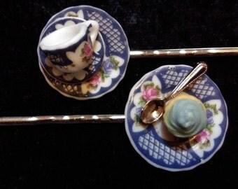 Tea and Cake Bobby Pin Set