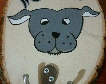 Custom Dog Caricature Leash Hook- Version 1