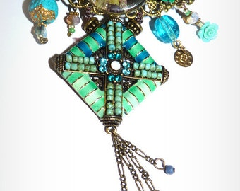 hair clips vintage /hair jewel flower Barrettes bronze-metal hair accessories