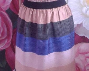 Waist gathered skirt, customized/striped skirt