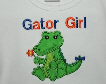 Florida Gator Girl t shirt, Florida t shirt, girls Gator shirt, Personalized Gator girl shirt, UF, University of Florida Girl shirt, Orange
