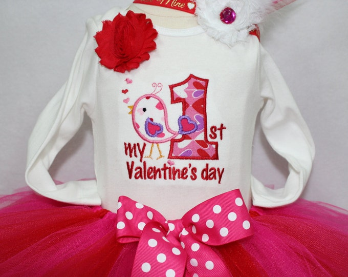 Baby Girl first Valentines Day outfit,First Valentines Day bodysuit,Valentines Day tutu, Valentines Day headband, Valentines Day leg warmers