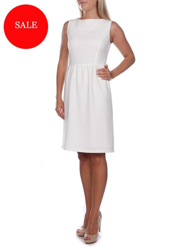 Cream White Dress Special Occasion Dresses Trapeze Dresses