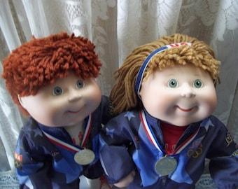 Danbury Mint Cabbage Patch 1996 U S Olympic Team Dolls