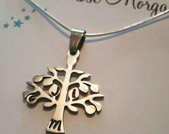 Mum necklace, wife necklace, Gran necklace, Family tree necklace, family initials, birthday gift, family necklace, grandma present, mom