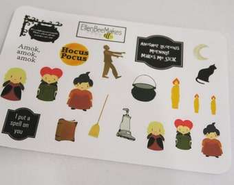 Hocus Pocus Themed Stickers