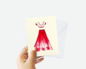 Indian Bride Wedding Card