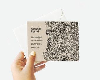 Mehndi / Henna Party Invitation