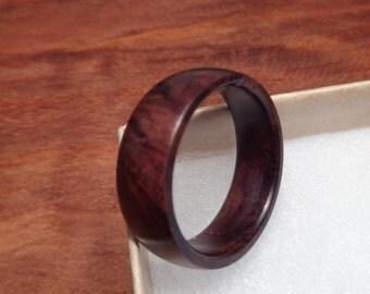 Wood Rings For Men,Mens Ring,Black Walnut Ring