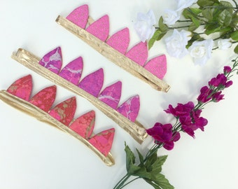 Party Favor Crowns. SET OF 4  Fairy Princess Crown. Birthday Crown. Princess Party Favors.