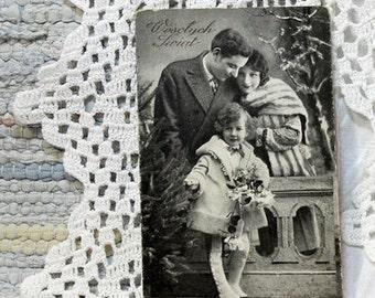 Vintage. Hand Tinted Photo Postcard. Old Postcard.