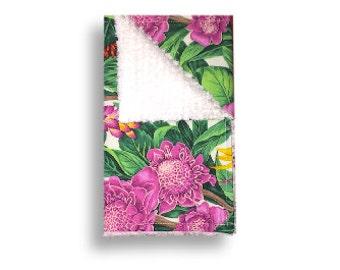 Burp Cloth <<Aloha Flowers>> Baby/Toddler/Drool//Yellow//Green//Pink//Red//Plumeria//Hibiscus//Bird of Paradise//Hawaii//Hawaiian Flowers