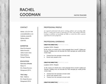 Two Page Resume examples of resumes two page resume format how to introduce 2 Resume Template Cv Template For Word Professional Resume Design Modern Resume With Cover Letter Two Page Resume Instant Download