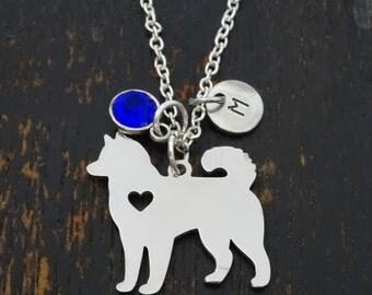 Husky Necklace, Husky Charm, Husky Pendant, Husky Jewelry, Husky Dog Necklace, Siberian Husky, Dog Pet Breed, Husky Dog Jewelry, Husky Lover