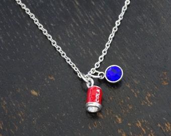 Coca Cola Necklace, Coca Cola Charm, Coca Cola Pendant, Coca Cola Jewelry, Coca Cola Can, Coke Necklace, Coke Charm, Coke Jewelry, Coke Gift
