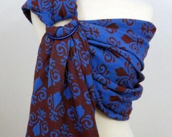 Dahlia wrap conversion ring sling- Fleur de Lys - 1534, 100% Cotton - WCRS