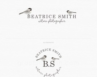 Birds Logo - Photography Logo Design - Premade Logo Design - Blog Logo Design