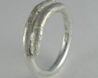 Fused silver wrap ring