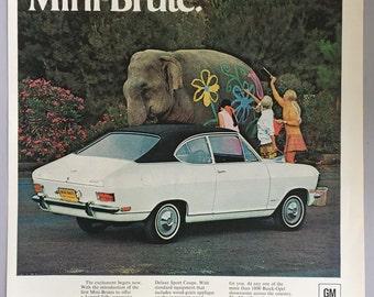 1968 Buick Opel Kadett Print Ad
